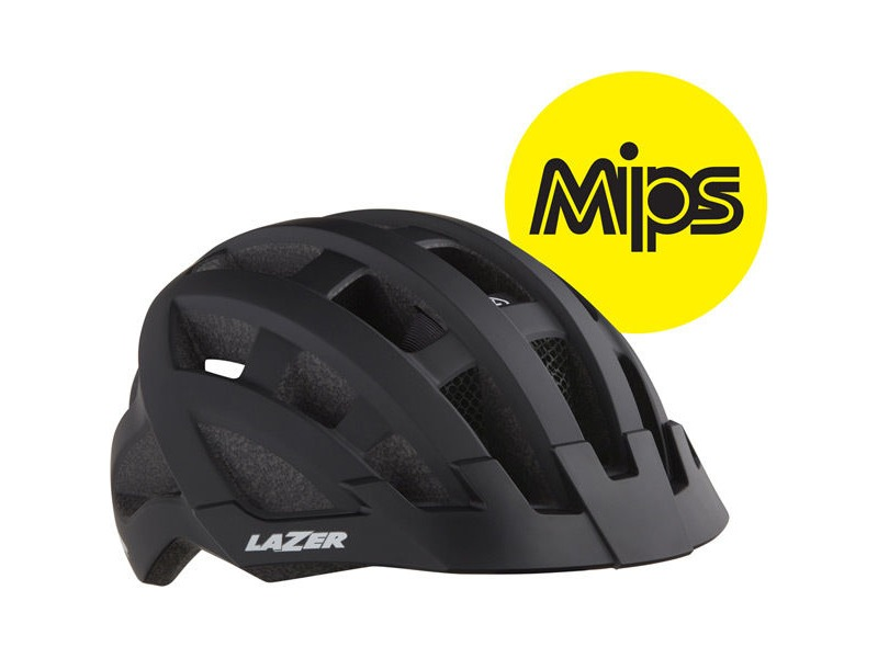LAZER Compact DLX MIPS Helmet, Black, Uni-Adult click to zoom image