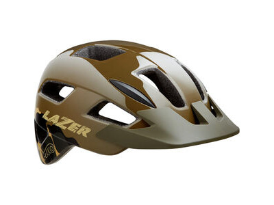 LAZER Gekko Helmet, Dark Green Camo, Uni-Youth