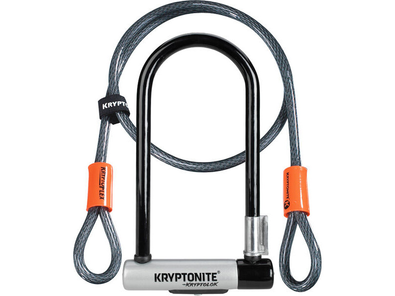 KRYPTONITE Standard U-Lock With 4 Foot Kryptoflex Cable Sold Secure Gold click to zoom image
