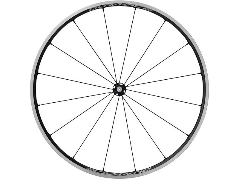 SHIMANO WH-R9100-C24-CL Dura-Ace wheel, Carbon laminate clincher 21mm, front Q/R click to zoom image