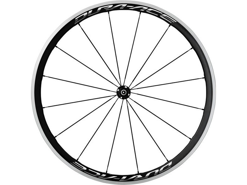SHIMANO WH-R9100-C40-CL Dura-Ace wheel, Carbon clincher 35mm, front Q/R click to zoom image