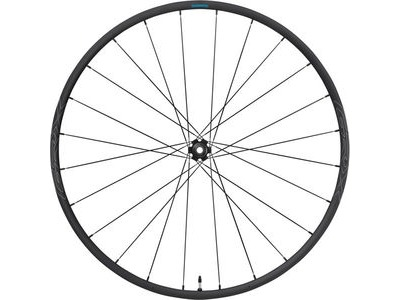 SHIMANO WHRX570F1270H-RX570 700C wheel, 12x100mm E-thru, Center Lock disc, black, front