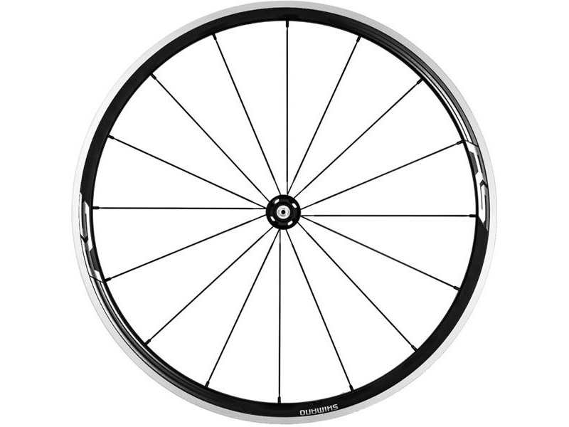 SHIMANO WH-RS330 wheel, clincher 30mm, black, front click to zoom image