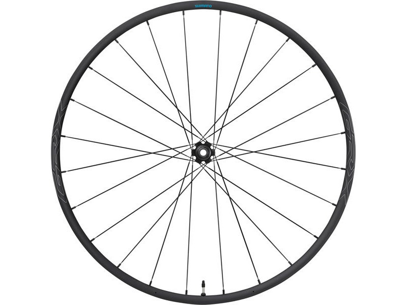 SHIMANO WHRX570F1265H-RX570 650b wheel, 12x100mm E-thru, Center Lock disc, black, front click to zoom image