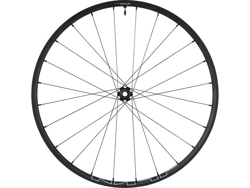 SHIMANO WH-MT600 tubeless compatible wheel, 29er, 15 x 100 mm axle, front, black click to zoom image