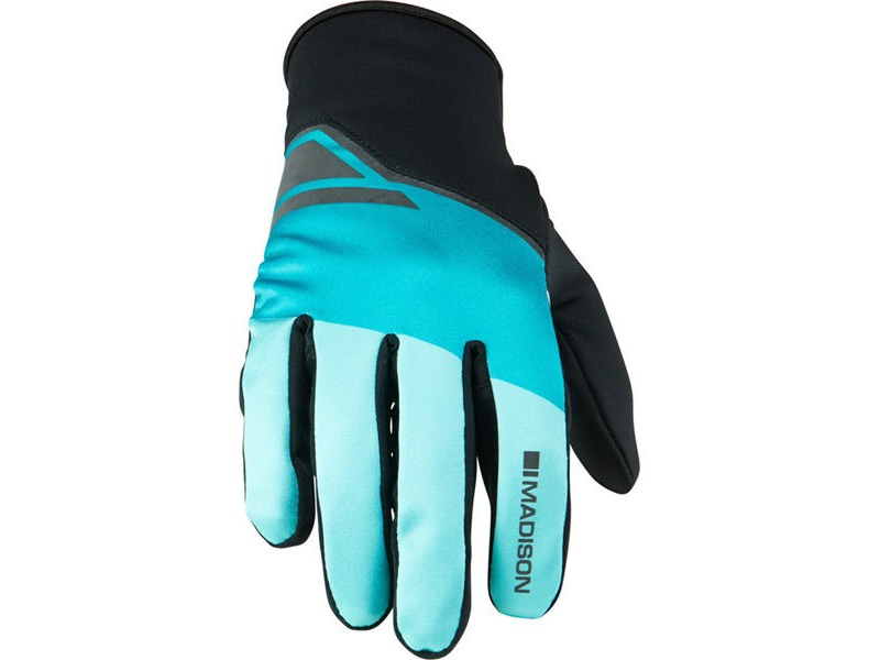 MADISON Sprint men's softshell gloves, blue curaco blocks click to zoom image