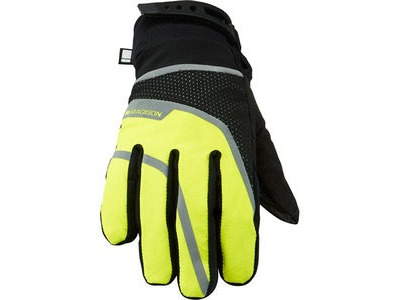 MADISON Avalanche women's waterproof gloves, black / hi-viz yellow