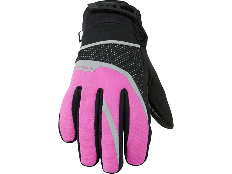 MADISON Protec youth waterproof gloves, knockout pink click to zoom image
