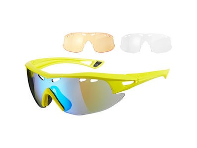 MADISON Recon glasses 3 lens pack - matt yellow / blue mirror, amber & clear lenses