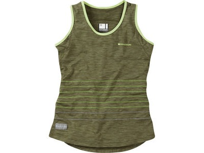 MADISON Leia women's sleeveless jersey, olive green