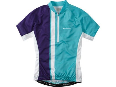 MADISON Tour women's short sleeve jersey, aqua blue / deep purple