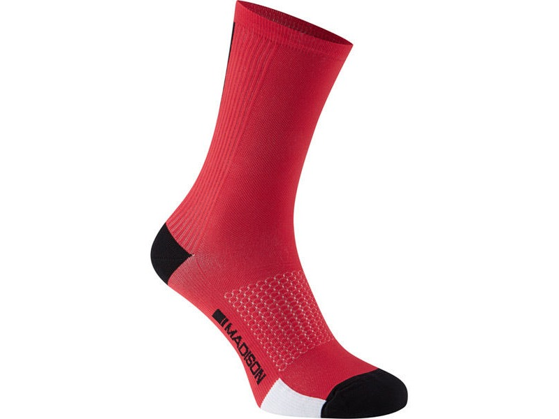 MADISON RoadRace Premio extra long sock, chilli red click to zoom image