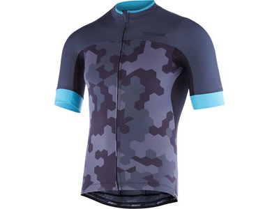 MADISON RoadRace Apex men's short sleeve jersey, dark shadow/blue curaco hex camo
