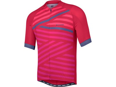 MADISON Sportive men's short sleeve jersey, classy burgundy geo stripes