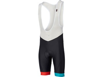 MADISON Sportive men's bib shorts, black/blue/red