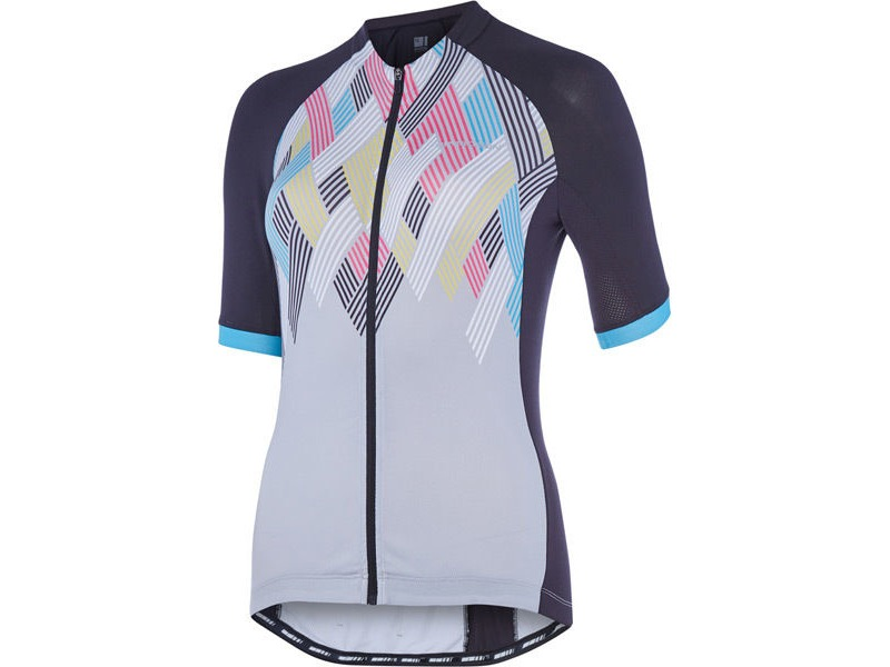 MADISON Sportive women's short sleeve jersey, black/silver grey crosshatch click to zoom image