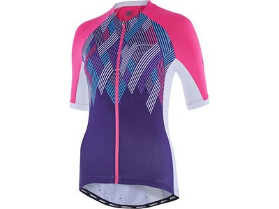 MADISON Sportive women's short sleeve jersey, pink glo/purple velvet crosshatch