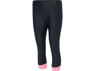 MADISON Keirin women's 3/4 shorts, black/pink glo