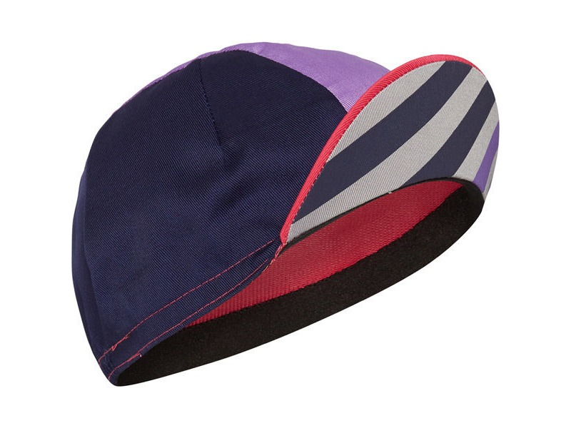 MADISON Sportive poly cotton cap block stripe pink glo/deep lavender one size click to zoom image