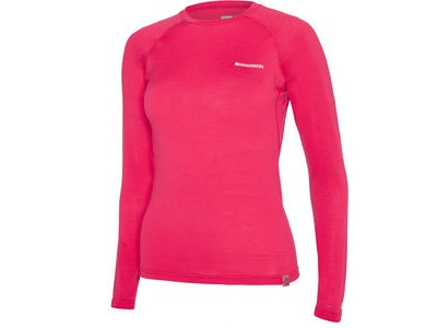 MADISON Isoler Merino women's long sleeve baselayer, rose red